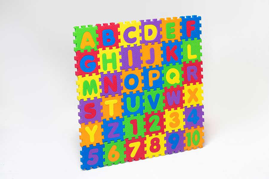پازل حروف و اعدادلاتین